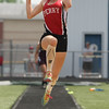 Michael Johnson - The News-Herald<br /> Perry's Grace Mcgarry performs in the long jump event during the Division 2 Track and Field Regional Finals at Austintown-Fitch High School on May 28, 2016.