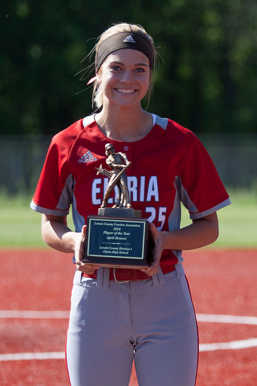 . Jen Forbus - The Morning Journal LCCA Player of the Year April Howser of Elyria.