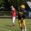 Randy Meyers - The Morning Journal<br /> Amherst quarterback Johnny Matakovich works on a short passing play during the Stripes practice in preparation for the Lorain County Senior All-Star game on June 6.