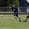 Randy Meyers - The Morning Journal<br /> Members of the Stripes team practice kickoff coverage in preparation for the Lorain County Senior All-Star game on June 6.