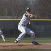Jen Forbus - The Morning Journal<br> During his senior year, Amherst pitcher Evan Shawver started on the mound for the Comets on April 30, 2018 against the Avon Lake Shoremen.