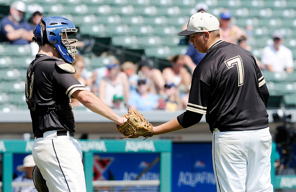 Don Knight   The Herald Bulletin<br /> The Daleville Broncos captured their second state baseball title in three years on Saturday at Victory Field.