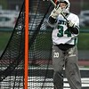 Randy Meyers - The Morning Journal<br> Westlake goalie Lauren Guay deflects a shot on goal by St Joseph on May 4.