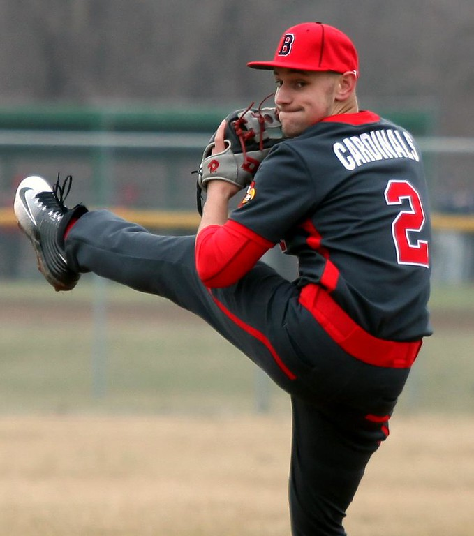 . Randy Meyers - The Morning Journal<br> Brookside starting pitcher Tim Ackerman delivers a pitch against Lorain during the third inning on March 25 at The Pipe Yard.