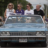 Jen Forbus - The Morning Journal<br /> Ladies from the 1999 Keystone State Champs rode in on the Impala convertible.