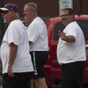Jen Forbus - The Morning Journal<br /> Quietly bringing up the end of the parade is Coach Jim Piazza.
