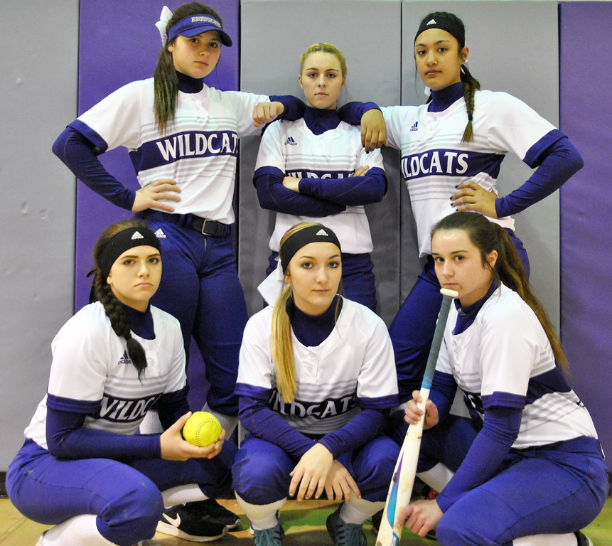 . Jon Behm - The Morning Journal<br> Behind strong senior leadership from the likes of (standing from left to right) Lauren Shaw, Paige Hartley and Sammie Stefan and upcoming talent such as (squatting from left to right) junior Madi Nunez, freshman Marlie McNulty and junior Brooke Piazza, the Keystone Wildcats are proving that they are serious about winning a state championship.