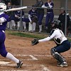 Randy Meyers - The Morning Journal<br> Keystone's Sammie Stefan belts a home run against Pittsford Sutherland (NY) on April 24.
