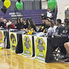 Jon Behm - The Morning Journal<br> McKenah Peters, Sammie Stefan, Lauren Shaw, Paige Hartley, and Madi Cendrosky, along with their families and friends, listen as Keystone coach Jim Piazza talks before signing their letters of intent to play Division I athletics on Nov. 10.