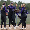 Jen Forbus - The Morning Journal<br> The Wildcats' infield celebrates a strikeout from pitcher Sydney Campbell, center, agianst Akron SVSM on April 14.