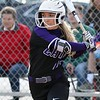Randy Meyers - The Morning Journal<br> Keystone's Marlie McNulty eyes the pitch against Amherst during the fourth inning on March 26.