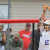 Eric Bonzar—The Morning Journal<br /> Keystone's Marlie McNulty celebrates her RBI in the top of the 12 inning against Beloit West Branch on June 2.