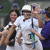 Eric Bonzar—The Morning Journal<br> Keystone's Autumn Acord (7) celebrates her two-run home run which put the Wildcats up 3-0 against Holy Name on May 18.