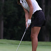 Randy Meyers - The Morning Journal<br /> Elena Zaborniak of Amherst watches her putt on the 9th green during the OGGF Showcase on Monday