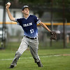 Jen Forbus - The Morning Journal<br />  Lorain third baseman George Pena makes the throw to first.