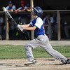 Randy Meyers - The Morning Journal<br /> Bay's Nate Rosenhaus pops it up against Keystone on Thursday during the Amherst summer classic