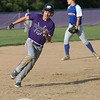Randy Meyers - The Morning Journal<br /> Keystone's Nate Archer will touch third and score against Bay on Thursday during the Amherst summer classic
