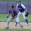 Randy Meyers - The Morning Journal<br /> Keystone's Rocky Houston takes his lead off of second in front of Bay shortstop Jon Koss on Thursday
