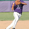 Randy Meyers - The Morning Journal<br /> Keystone shortstop Sean Saterlee fields a ground ball and throws to first for the out against Bay on Thursday