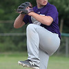Randy Meyers - The Morning Journal<br /> Keystone's Kyler Yusko delivers a pitch against Bay during the first inning on Thursday at the Amherst Summer Classic