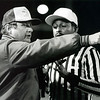 News-Herald file<br /> Perry coach Bob Ritley talks with an official during a 1987 playoff game against Chagrin Falls. Beginning this season, The News-Herald high school football coach of the year will receive The Bob Ritley Award.