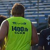 Paul DiCicco - The News-Herald<br />  Wickliffe football team jogging a mile while breaking every 200 meters to perform 25 squats on July 27.