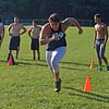 Paul DiCicco - The News-Herald<br />  Senior Mike Galioto running shuttles during Devil Dog Soldier workouts on July 27.