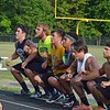 Paul DiCicco - The News-Herald<br /> Devil Dog Soldiers squatted over 500 times while during a mile run in the heat preparing for another successful season.