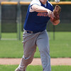Randy Meyers - The Morning Journal<br /> Bay's Chris Jonas delivers a pitch against Elyria during the fourth inning of the Amherst Summer Classic on Saturday