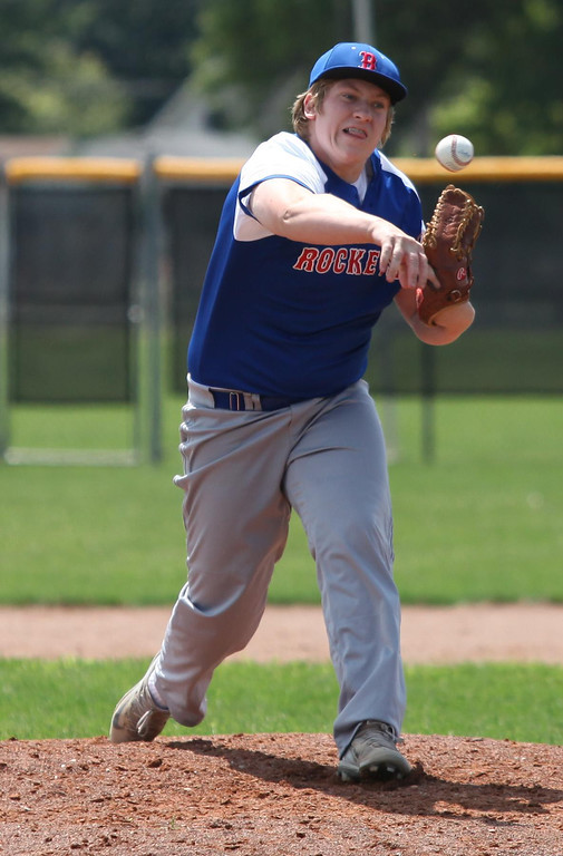 . Randy Meyers - The Morning Journal Bay\'s Chris Jonas delivers a pitch against Elyria during the fourth inning of the Amherst Summer Classic on Saturday