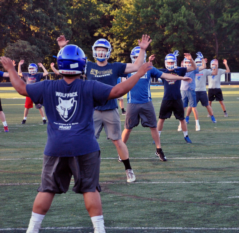. Jon Behm - The Morning Journal<br> The Bay Rockets got to work early on July 31 to kick off the 2017 football season.