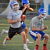 Jon Behm - The Morning Journal<br> Bay junior Andrew Veverka turns the corner into open space during a drill on July 31.