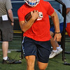 Jon Behm - The Morning Journal<br> Bay senior Trey Psota runs a drill on July 31.