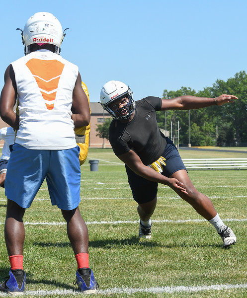 Eric Bonzar—The Morning Journal<br> The Lorain Titans kicked off their first day of practice, under Head Coach Dave McFarland, July 31, 2017.