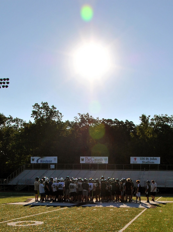 . Jon Behm - The Morning Journal<br> Westlake got an early practice in on July 31.
