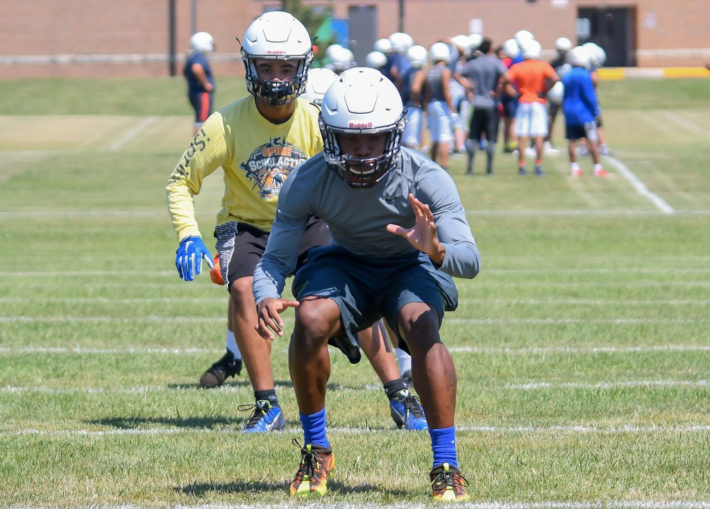 . Eric Bonzar�The Morning Journal<br> The Lorain Titans kicked off their first day of practice, under Head Coach Dave McFarland, July 31, 2017.