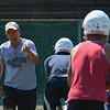 Eric Bonzar—The Morning Journal<br> Head Coach Dave McFarland runs the Lorain Titans' first day of practice, July 31, 2017.