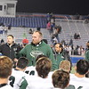 The Morning Journal File<br> Westlake coach Jason Hall talks to his team after the Demons defeated Holland Springfield in overtime on Nov. 4.