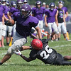Jen Forbus - The Morning Journal<br> Scenes from the scrimmage between Keystone and St. Paul Norwalk on Aug. 11.