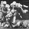 News-Herald file<br /> South defenders Ken Hoffert (27), George Ward (50) and Ken Arko (44) react after a Benedictine fourth-down pass fell incomplete during the third quarter of the Rebels' victory in a Division II regional final at Baldwin Wallace in 1986.