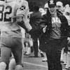 News-Herald file<br /> South coach Dan Hoffman congraulates Frank Vittori (32) after a touchdown in the second quarter of the Rebels' victory over Benedictine in a Division II regional final at Baldwin Wallace in 1986.