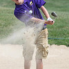 Randy Meyers - The Morning Journal<br /> Nick Robbins of Avon hits out of a  sand trap on the 9th hole during the SWC preview held on Wednesday at Eagle  Creek in Norwalk