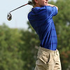 Randy Meyers - The Morning Journal<br /> Midview's Ryan Malloy watches his  tee shot during the SWC preview on Wednesday at the Eagle Creek course in  Norwalk
