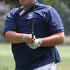 Randy Meyers - The Morning Journal<br /> Mally Kilbane of Olmsted Falls  watches his tee shot during the SWC preview on Wednesday in Norwalk