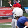 Randy Meyers - The Morning Journal<br> Brunswick quarterback Josh Stacho looks to pass to his receiver against Avon during a scrimmage on Aug. 16.