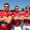John Kampf, The News-Herald<br /> Mentor's Ryan Jacoby, Nick Samac and Noah Potter.