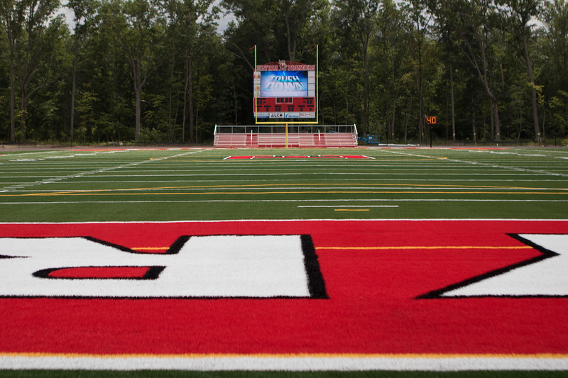 Jen Forbus - The Morning Journal<br> The new Ely Stadium will debut on Aug. 24 as the Pioneers host the Avon Lake Shoremen.