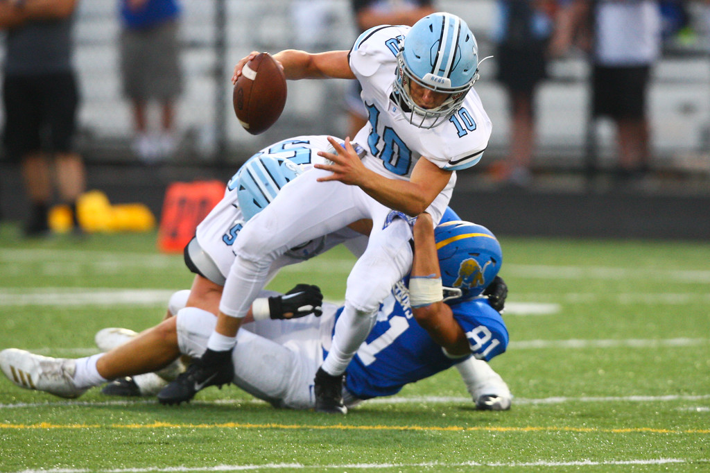 . 2018 - Football - Willoughby South at NDCL.  NDCL defeated Willoughby South 41 to 28.