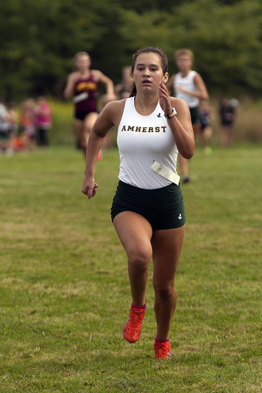 . Jen Forbus - The Morning Journal The first member of Amherst Steele\'s girls team to cross the finish line at the SWC Preview was Junior Victoria Bailey, who finished fifth for the girls overall.