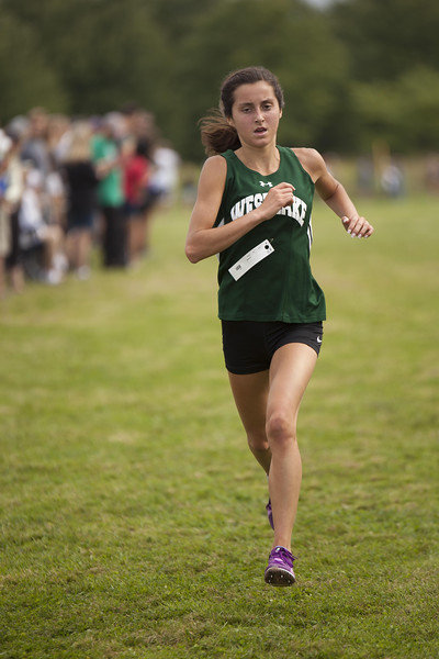 Jen Forbus - The Morning Journal<br /> Easily finishing first for the girls at the SWC Preview is Westlake senior Erica Francesconi.